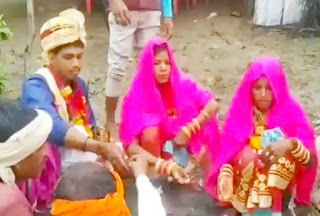 A groom married two brides