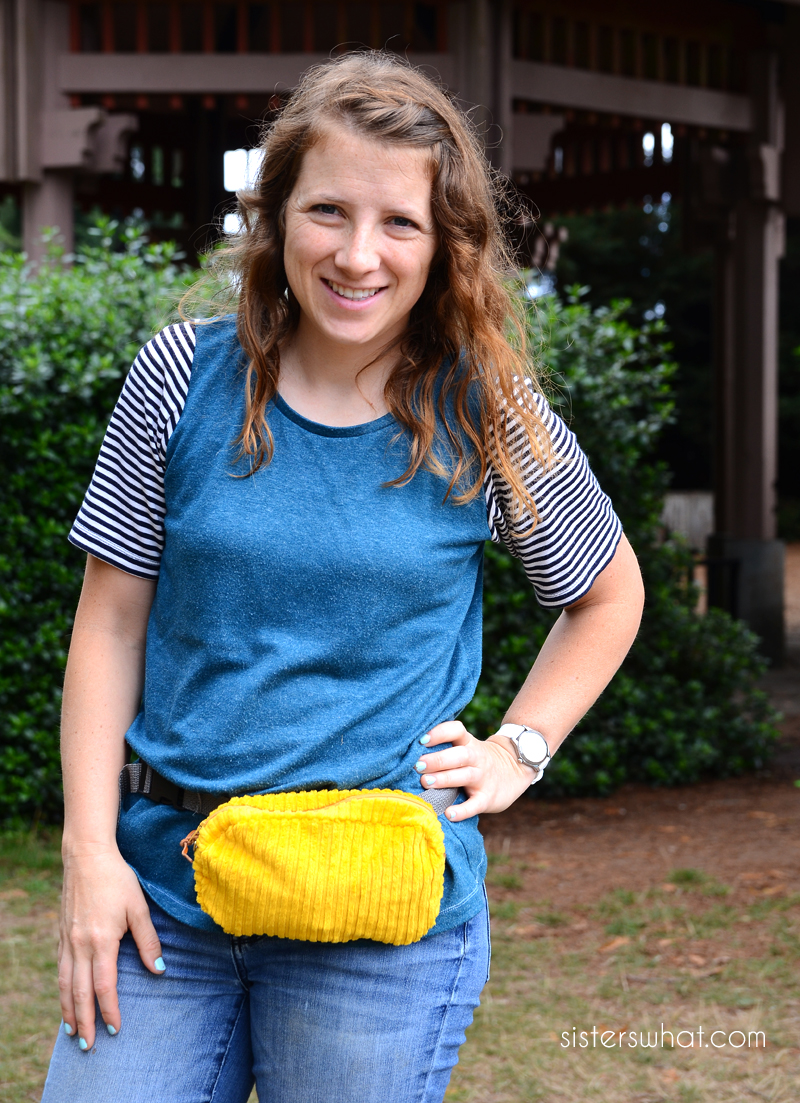 how to sew a simple fanny bag