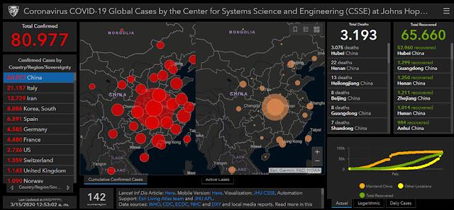 Casos COVID-19 en China