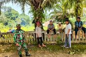 Babinsa Koramil 420-07/Sungai Manau Yang Tanggap Melaksanakan Komsos Dengan Warga Binaan
