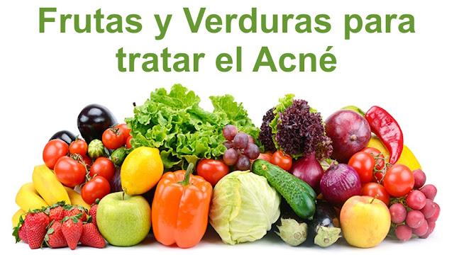 Frutas y Verduras para tratar el Acné