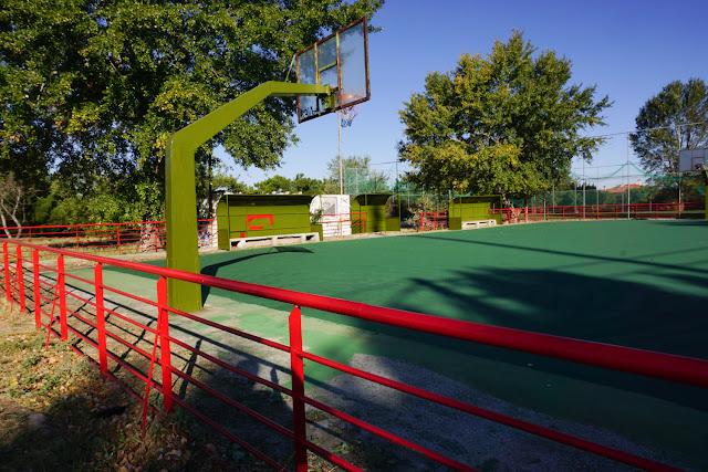 Αναβαθμίσαμε δύο ανοιχτά γήπεδα μπάσκετ στην Περαία