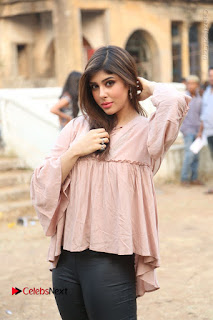 Telugu Actress Aditi Singh Stills in Leather Pants at Nenu Kidnap Iyanu Movie Press Meet  0060.JPG