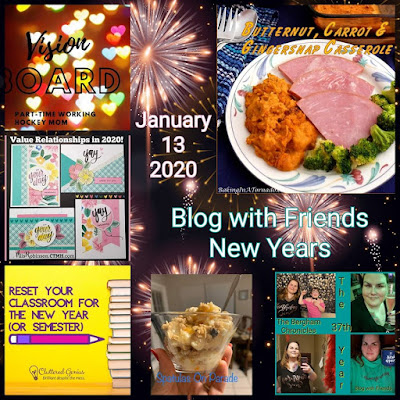 Blog With Friends, a multi-blogger project based post incorporating a theme, New Year | Featured on www.BakingInATornado.com