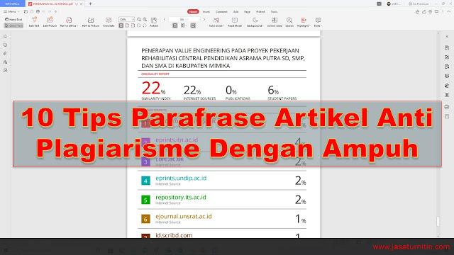 10 Tips Parafrase Artikel Anti Plagiarisme Dengan Ampuh