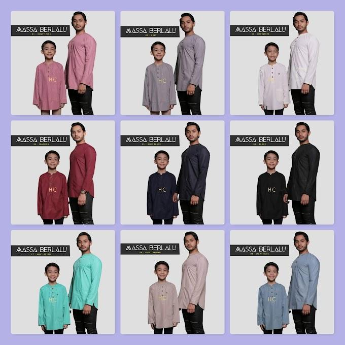 Baju Sedondon Ayah dan Anak Raya 2020 ~ Kurta Massa Berlalu