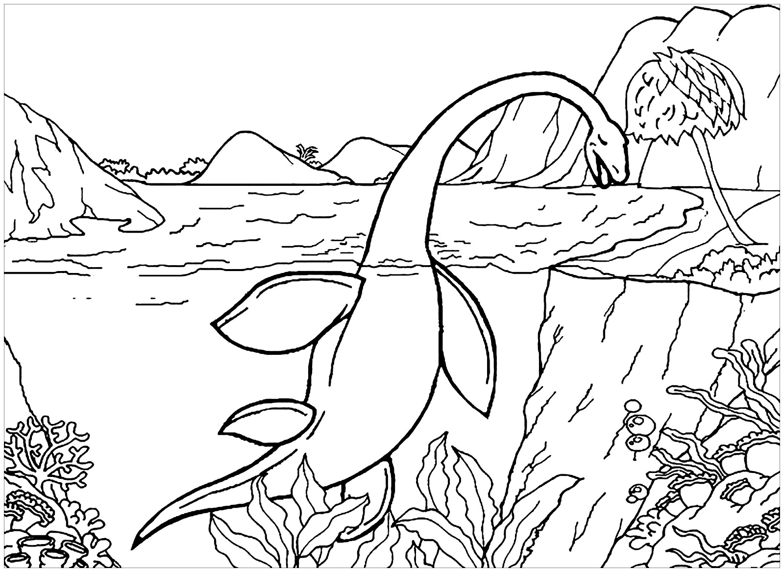 Dinosaurs coloring pages 48