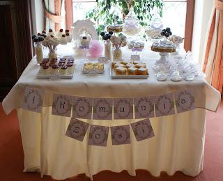 Słodki stół Komunijny