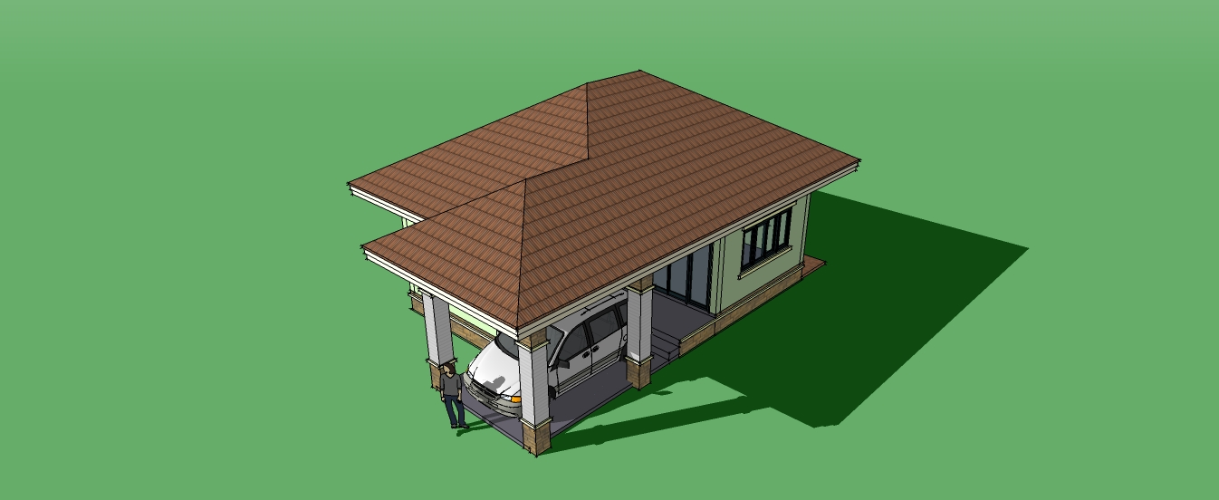 These small houses design with blueprint have 2 bedrooms and 2 bathrooms. The living area of 45 square meters to 126 square meters. The budget for construction starting 500,000 Baht or 800,000 Pesos (furniture is not included). Find what you're looking for in our collection of small house designs below.