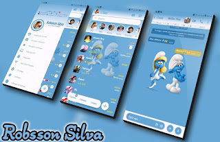 Rc Os Smurf Theme For YOWhatsApp & Fouad WhatsApp By R̳o̳b̳s̳s̳o̳n̳