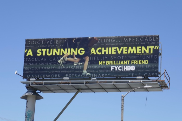 My Brilliant Friend 2019 Emmy billboard