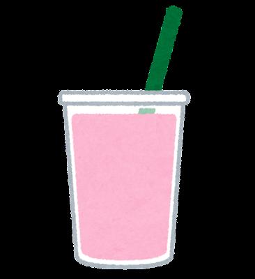 ピンクミルクのイラスト