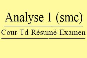 Analyse 2 SMP S2 Cours // Td Et Exercices // Résumés // Examens
