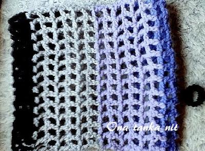 jednostavni mrežasti heklani šal ili kapa u više boja
