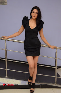 Actress Sakshi Chowdary Pictures in Black Dress at Siddhartha Movie Teaser Launch  0118