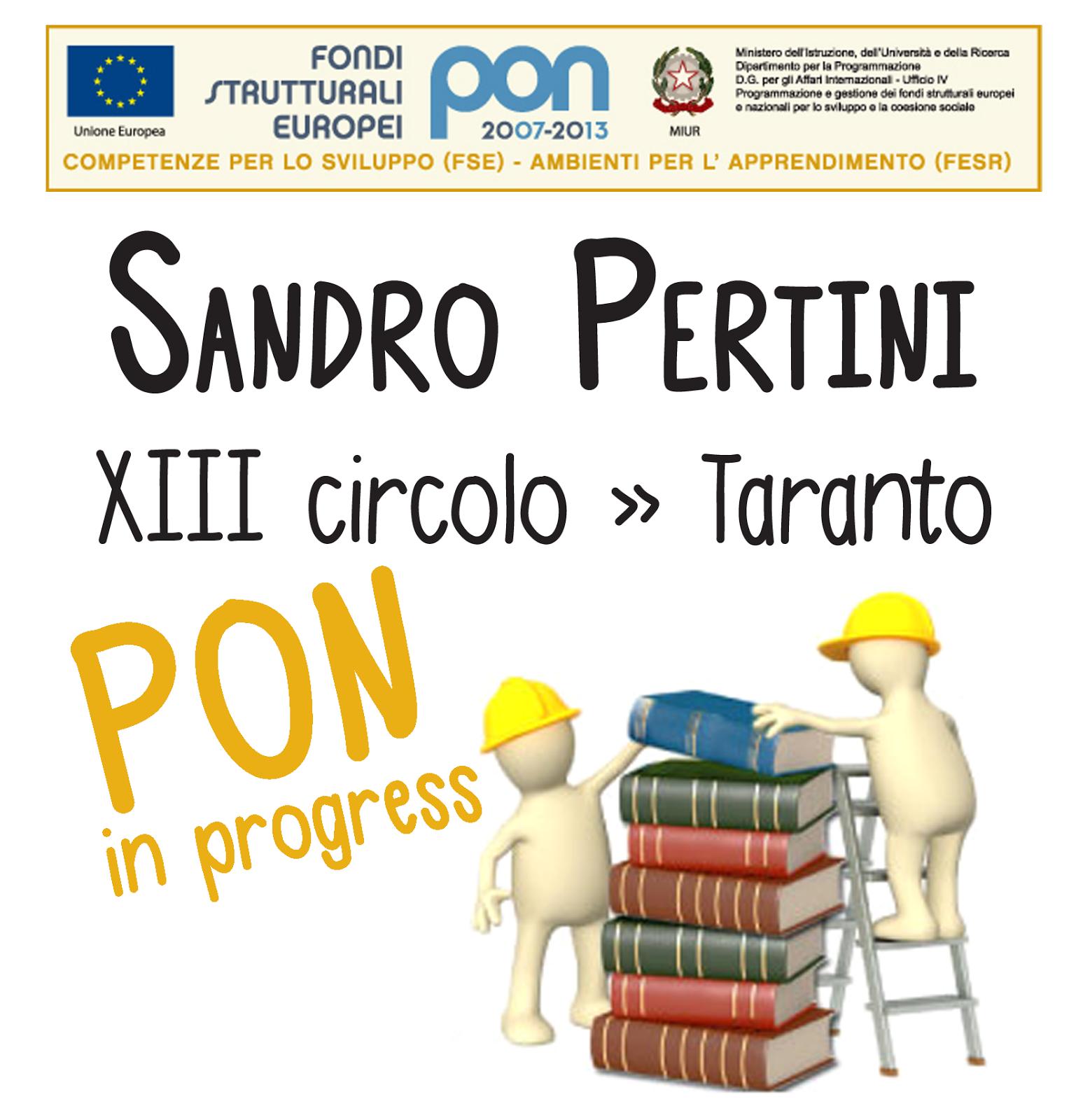 "PON XIII Circolo Didattico ""Sandro Pertini"" Taranto"