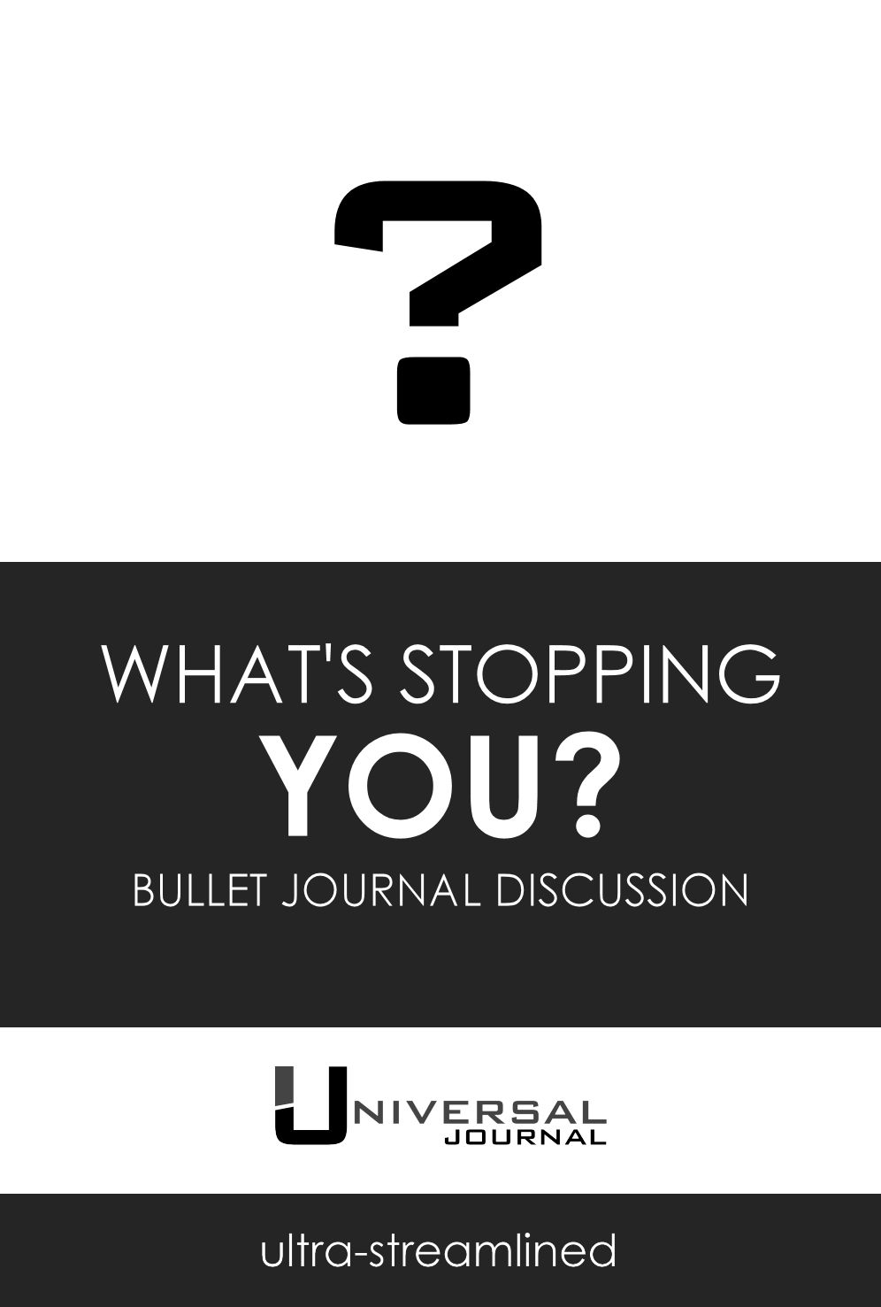 bullet journal what's stopping you try it