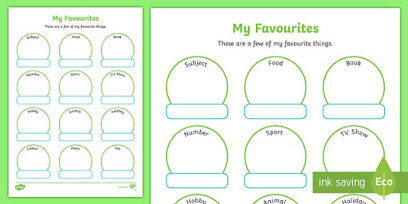 Reading, Comprehension, Vocabulary, and Writing - favourites