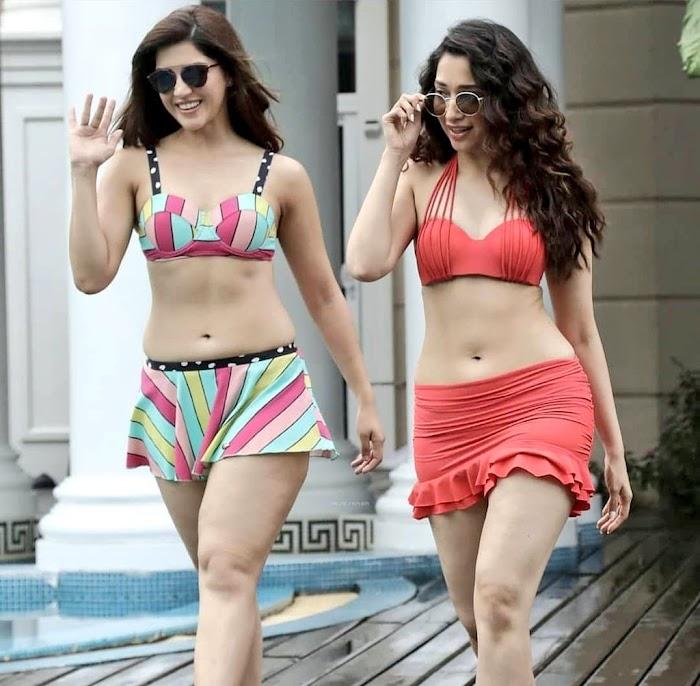 Mehrene Kaur Pirzada Sexy Bikini Photos- Hottest Navel & Cleavage Pictures ever