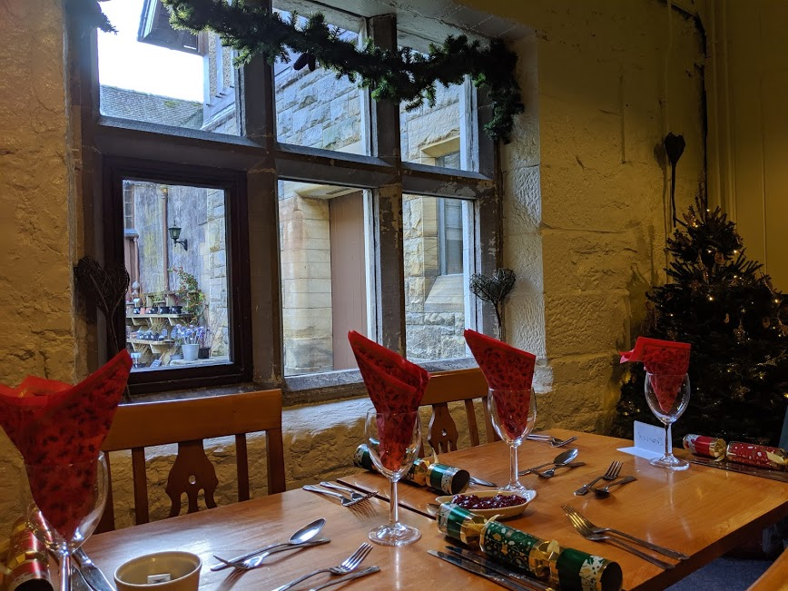 Christmas & Santa at Cragside Review  - Tea room setting