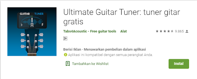 aplikasi stem gitar ultimate guitar tuner