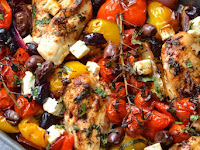 GREEK CHICKEN TRAYBAKE RECIPE