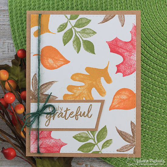Fall Leaf Card by Juliana Michaels | Shades of Autumn Stamp Set by Newton's Nook Designs #newtonsnook #handmade