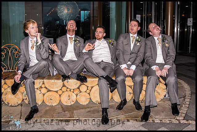 Cool group shots at wedding