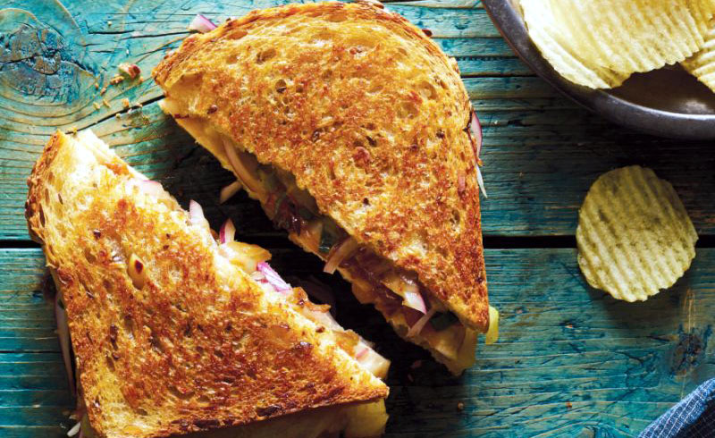 Cheesy Chicken Melt With All of the Onions Relish