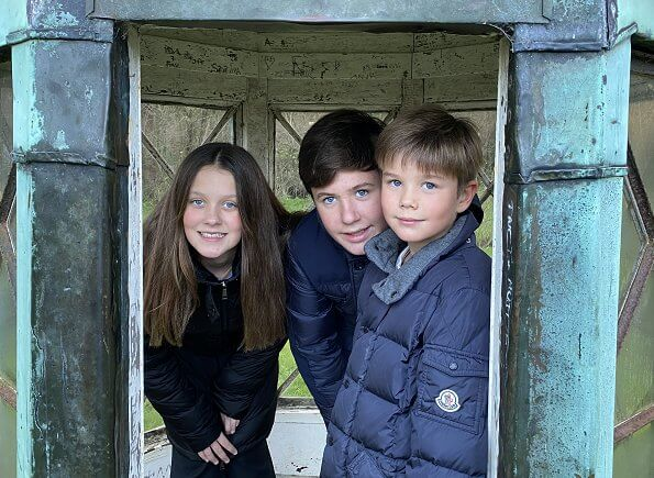 Prince Christian, Princess Isabella, Prince Vincent and Princess Josephine started school at the Lemania-Verbier in Switzerland
