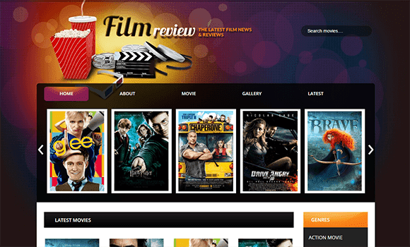 Film Reviews Responsive Blogger Template | Free Download
