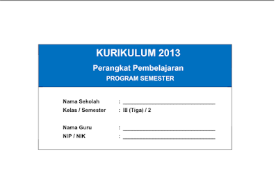 Download PROMES Kelas 3 SD Kurikulum 2013 Semester 2