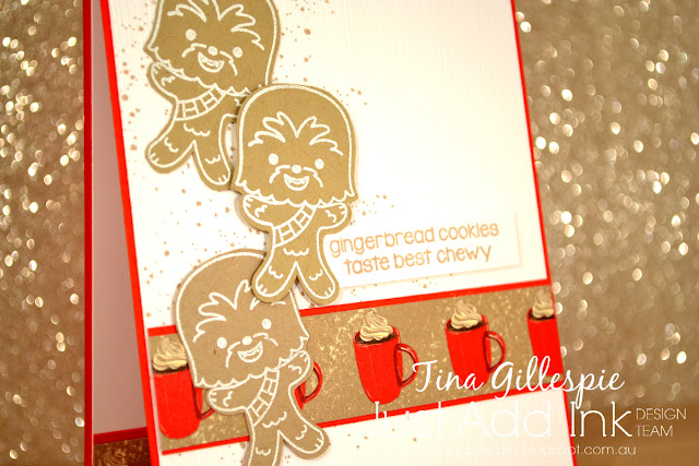 scissorspapercard, Stampin' Up!, Kindred Stamps, Just Add Ink, National Gingerbread Day, Waterfront, Merry Christmas To All, Night Before Christmas DSP, Subtle EF