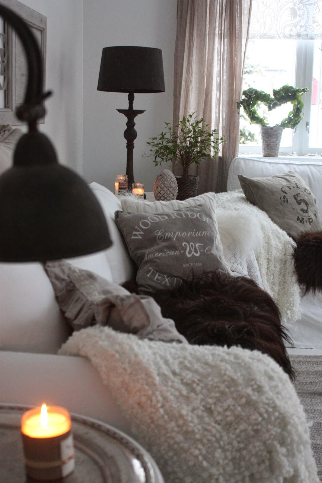 rustikk stil stue