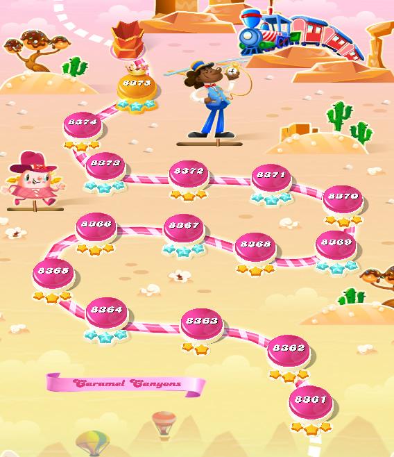 Candy Crush Saga level 8361-8375