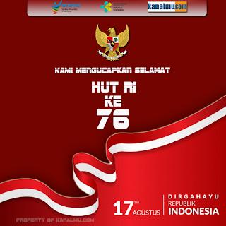poster ucapan selamat hut ri ke 76 dirgahayu indonesia - kanalmu
