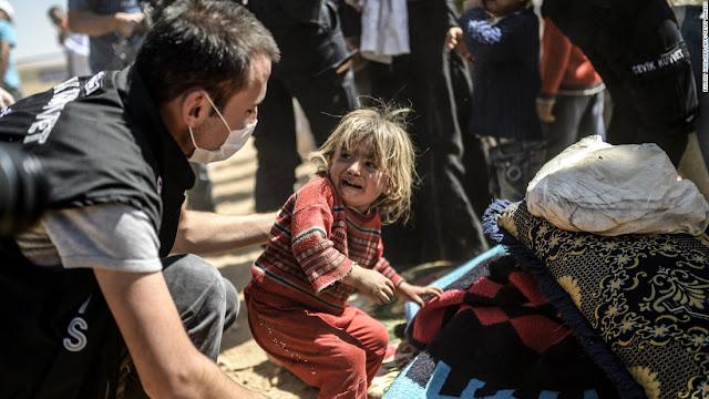 В Сирии умерла 6-летняя девочка, которую отец держал на цепи