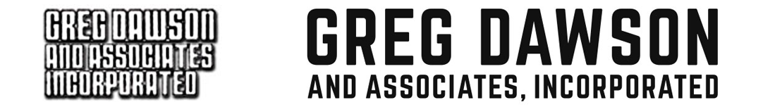 Greg Dawson logo, before and after