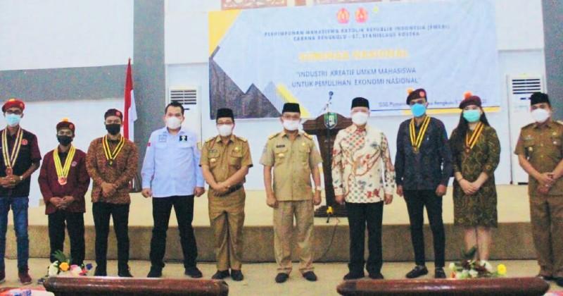 Gubernur Bengkulu Buka Kegiatan Seminar Nasional Kewirausahaan PMKRI