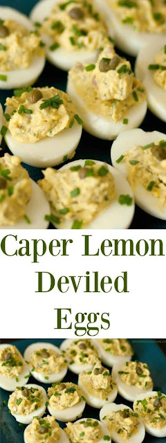 Caper Lemon Deviled Eggs