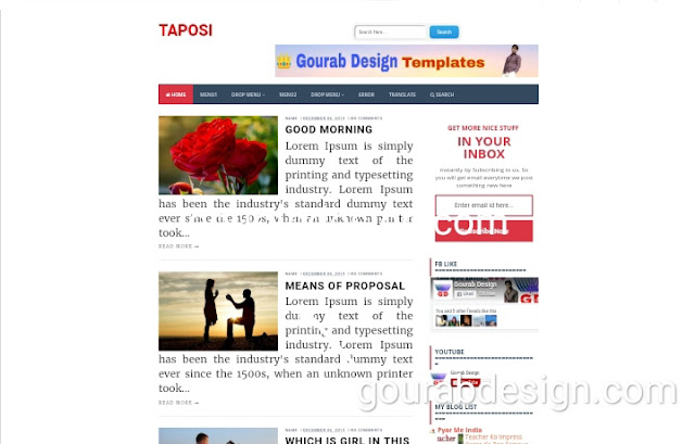 taposi blogger template