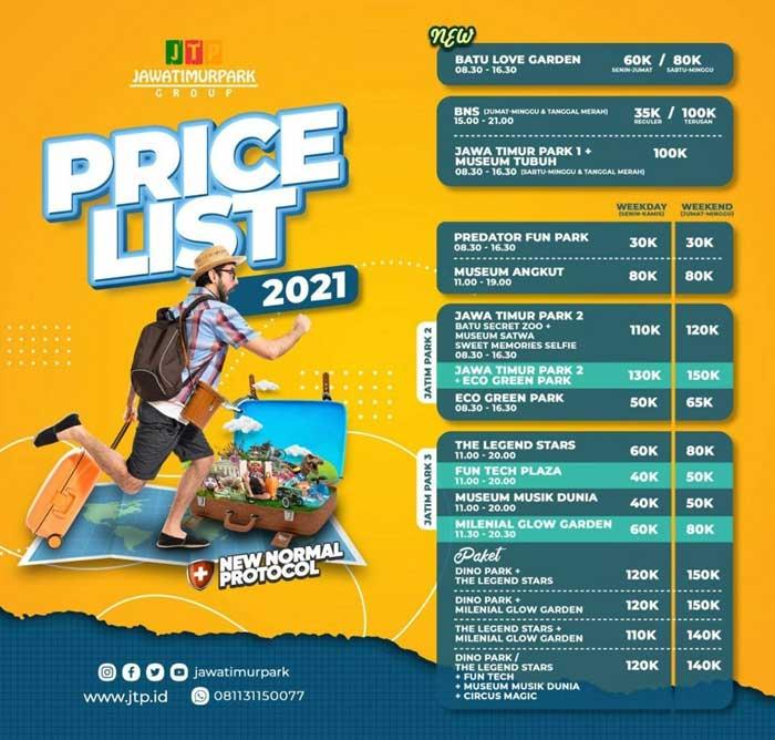 Harga Tiket Masuk Jatim Park 2021