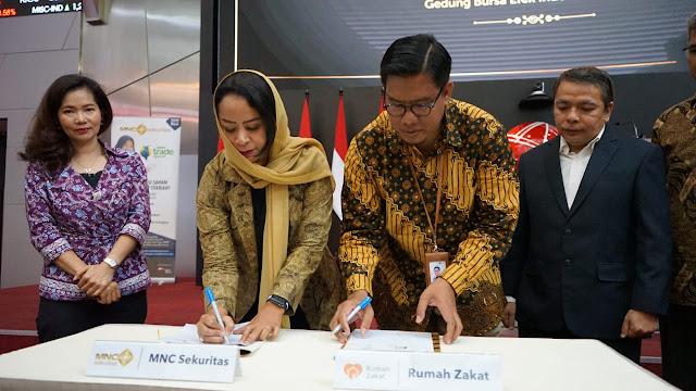 Rumah Zakat Gandeng MNC Sekuritas Luncurkan Wakaf Saham Produktif