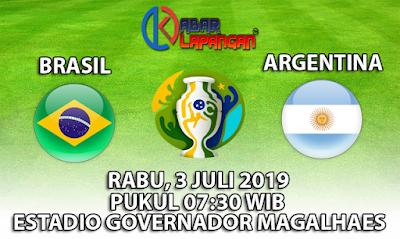 Prediksi Bola Brasil vs Argentina 3 Juli 2019
