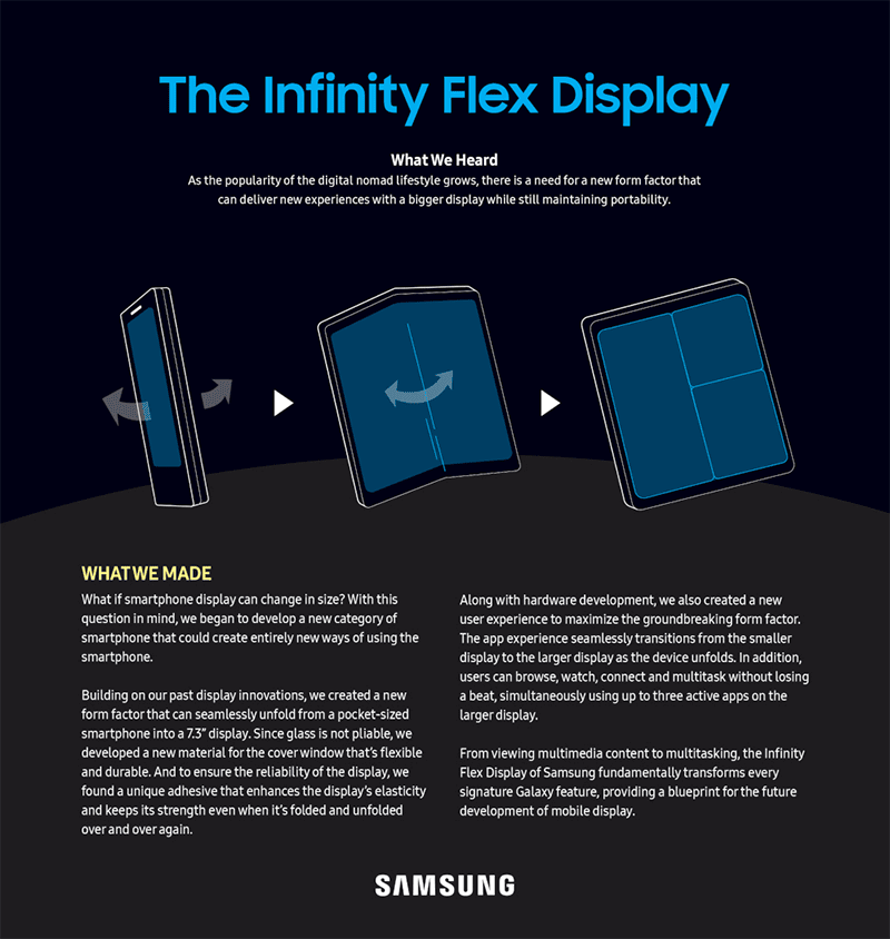Samsung announces Infinity Flex Display, Notches, New Infinity, One UI, and more!