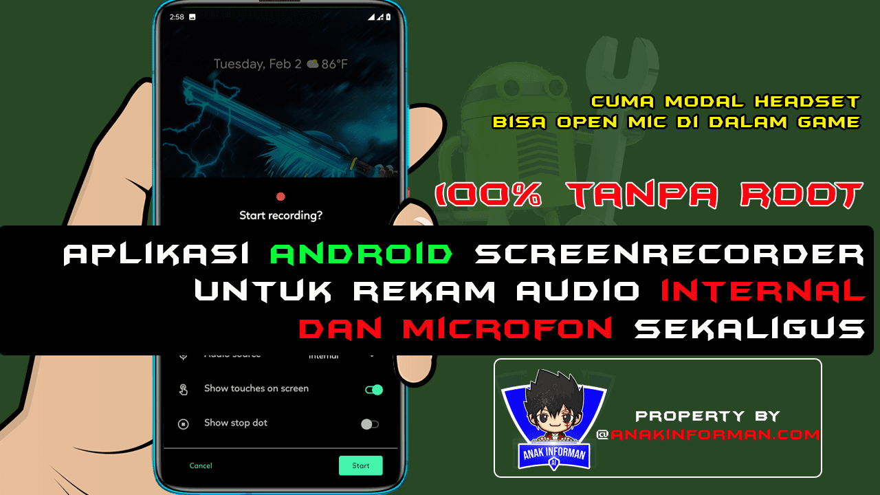 cara merekam audio internal android 2021
