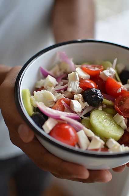 Salade grecque au chèvre
