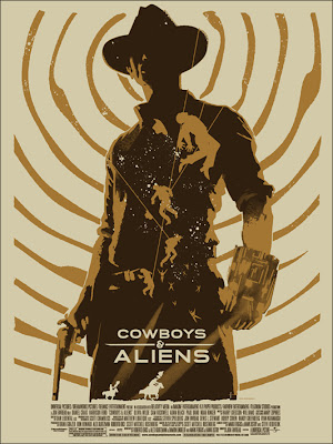 Cowboys & Aliens Screen Print by Janée Meadows
