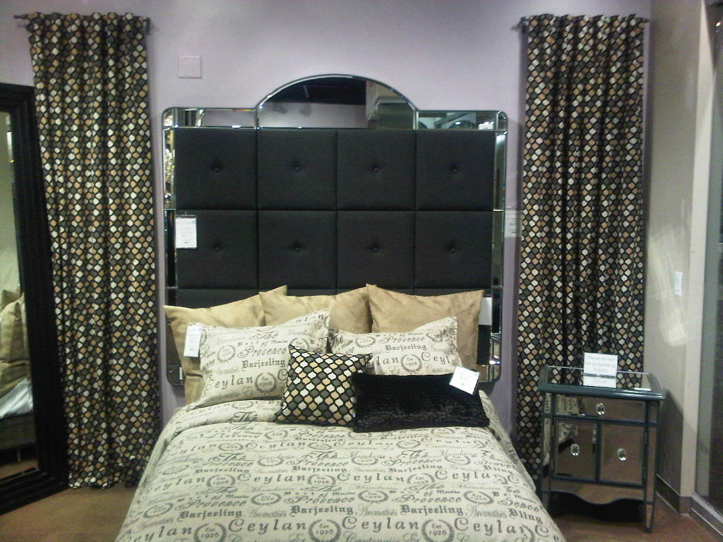 At The Las Vegas Furniture Market Howard Elliott Collection Featured A New Headboard Concept In Low And Tall Profiles It Combines Mirror