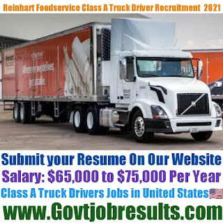 Reinhart Foodservice CDL Class A Delivery Truck Driver Recruitment 2021-22